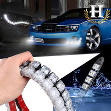 2x Car COB DRL Driving Fog Light 10 LED Flexible Daytime Running Light For Honda/Toyota/Hyundai/VW/Kia forMazda/Buick/Nissan etc