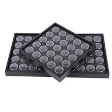 Empty 25/50 Space Nail Art Powder Gems Rhinestone Storage Container Case Box Plate Manicure Tool(China)