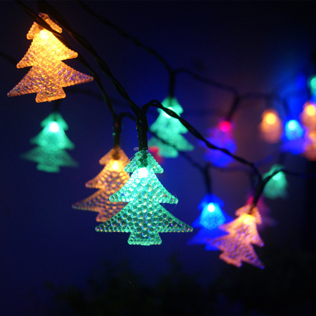6 5m 30 Led Xmas Tree Solar Power String Lights Waterproof Fairy Fence Home