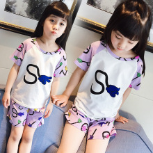 Children's Garment Summer Wear New Pattern Furnishing Suit Short Sleeve Shorts Pajamas Two Pieces Kids Clothing Sets(China)