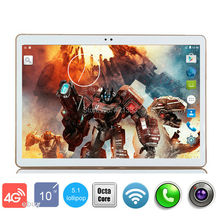 2017 New 10 inch Octa Core 3G Tablet PC 4GB 64GB Android 7.0 IPS GPS 5.0MP 3G WCDMA Dual Sim Cards Tablet