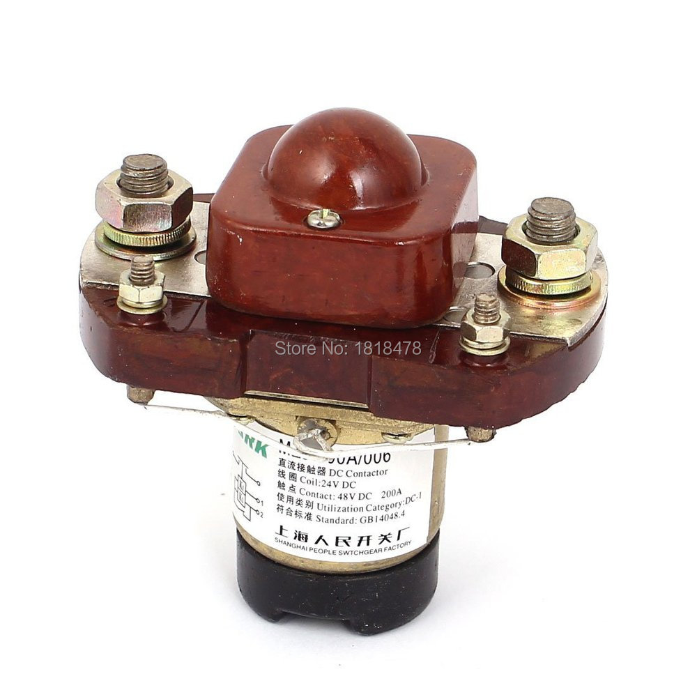 SZJ-200A MZJ-200A DC 24V Main Contact 200A Direct Action Solenoid Contactor<br><br>Aliexpress
