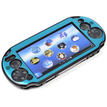Light Blue Aluminum Metallic Protection Hard Case Cover for PlayStation PS VITA 2000 (NOT for vita 1000 series)(China)