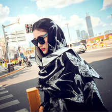 New 2016 winter ladies fashion swallow printed scarf woman warm Imitation Cashmere two-sided dual-use for female 60*190CM