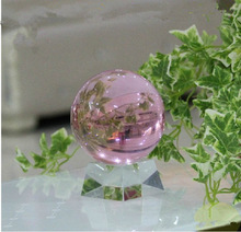 Free Shipping DHL Wholesale Solid Crystal Ball Eight Colors 40mm