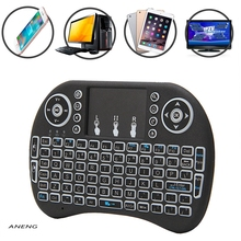 ANENG Product NEW Mini 2.4G 3 Color Backlit Wireless Touchpad Keyboard Air Mouse For PC Pad Android TV Box/X360/PS345