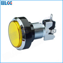 30mm Top (24mm Hole) Plated Arcade Button LED 12V Illuminated Push Button with Microswitch for Arcade Games(China)