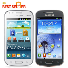 Unlocked Original Unlocked Samsung Galaxy S Duos S7562 Mobile Phone 4.0''Screen 3G WIFI GPS 5MP 4GB Dual Sim  refurbished phone