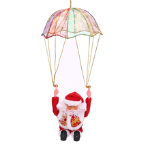 1pcs Christmas Decoration Parachute Electronic Santa Claus Old Plush Doll Toys Christmas Ornaments Party Favor High Quality(China)