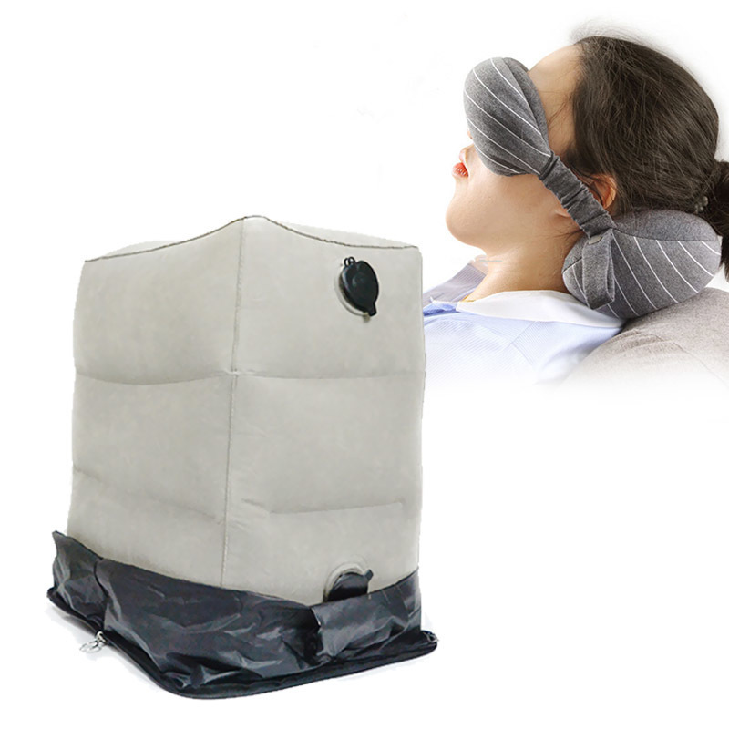 2019 Fashion Portable Travel Set Eye Mask Travel Neck Pillow Inflatable Foot Rest Cushion With Dust Cover Storage Bag Airplane (2).jpg
