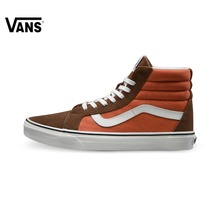 Original Vans Classic Vans Blue and Brown Unisex Skateboarding Shoes Sports Shoes Sneakers free shipping(China)