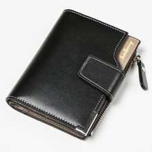 Baellerry Newest Blue! Short Men Wallets PU+Genuine Leather Wallet Men Clutch Bag Coin Purse Card Holder Zipper Hasp Male Wallet