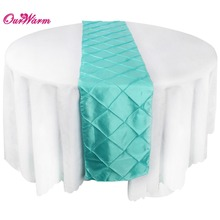 exquisite Satin Pintuck Table Runner Wedding Party Banquet Decoration elegant Tablecloth 30 x 275cm(China)