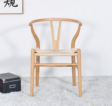Replica Hans Wegner Wishbone Y Chair modern Design Solid Beech Wood Dining Chair Minimalist Famous Classic Wooden Furniture