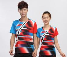 New men badminton shirts,women round collar quick-drying breathable ping pong clothes shirts,men table tennis jersey shirts