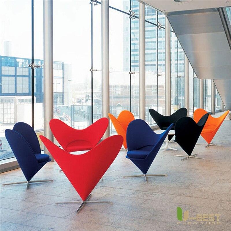 Fabric heart cone chair