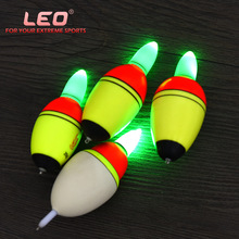 Electric Light Float Pot-bellied Flats 10pcs/lot Oval Luminous Fishing Floats EVA Bobbers