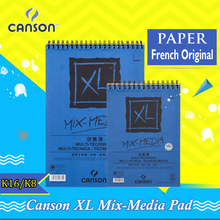 Canson XL Mix Media Pad Side Wire Notebooks Multi-Technique Sketch Books Perfect For Acrylic Painter Watercolor Pencil Markers