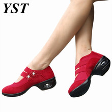 Size 35-41 Women Jazz Dance Shoes Breathable Modern Dancing Shoes Ladies Sport Shoes Soft sole Female Dance Shoes Heel 4.5cm(China)