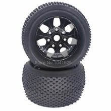 4Pcs/Set 140mm RC 1/8 Monster Truck Tires Plastic Wheels & 17mm Hex Hub For HSP HPI Redcat Exceed Traxxas Kyosho Baja