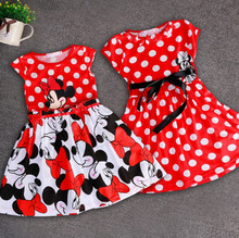 Oklady New Summer sping Girls Dress Tutu Princess Minnie Mouse Sleeveless Cartoon Mouse Cotton Christmas New Year Clothes