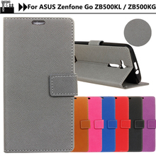 JURCHEN Case For ASUS Zenfone Go ZB500KL Case Silicone Cross Pattern Luxury Leather Flip Cover For ASUS ZB500KL Case ZB500KG 5.0