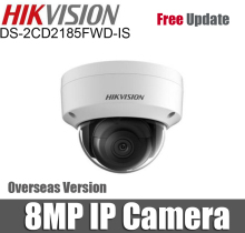 Hikvision DS-2CD2185FWD-IS 8MP Dome IP Camera H.265+ POE SD Card slot 30m IR Range Security Camera With Audio and Alarm interf
