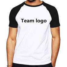 Custom Made Class Uniform Team Work Clothes T-Shirts Customize Designer raglan sleeve Mens T Shirt Advertising Uniform Tops Tees(China)