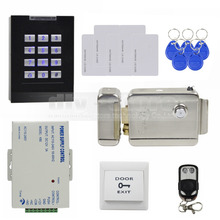 DIYSECUR 125 KHz RFID Reader Keypad Access Control System + Electronic Lock+ Power Supply + Remote Controller for Home / Office