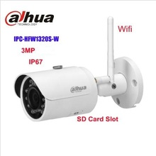 Dahua 3mp WIFI bullet wireless IP Camera DH-IPC-HFW1320S-W replace DS-2CD2032F-IW wireless network camera IPC-HFW1320S-W no logo