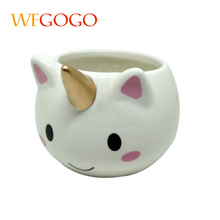 WFGOGO Ceramic cute cartoon mugs Milk coffee drink cup 300-400ml creative stereoscopic gift(China)