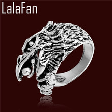 Exaggerate Eagle Claws Beads Rings For Men Retro Antique Silver Plated Gothic Animal Ring Jewelry Party Gift BL088