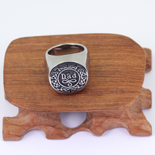 Memorial Ashes Holder Casket Stainless Steel Dad Ring Keepsake Cremation Urn Ring P629(China)