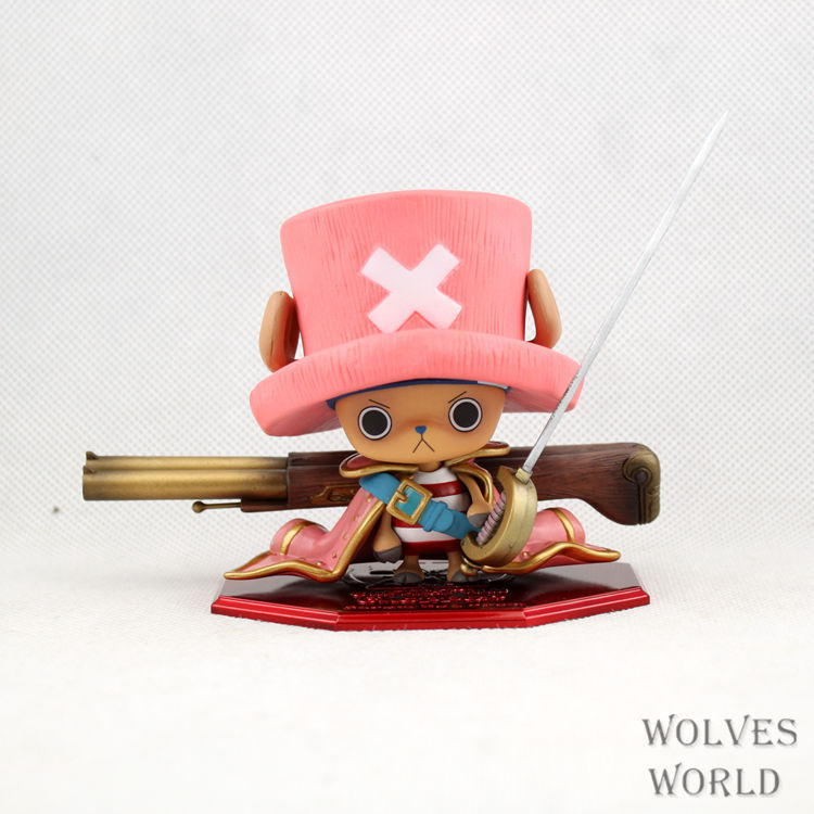 4Parts / sets super lovely chopper anime one piece model garage kit pvc action figure classic collection toy doll<br>