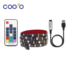 USB LED Strip 5050 RGB TV Background Lighting Kit Cuttable with 3 Key/ 17 Key/ 24 Key RGB LED Controller, 0.5M/1M/2M Set(China)