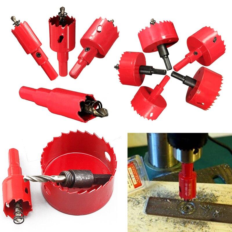 1pc 16mm-70mm Red Bi-Metal M42 HSS Hole Saw Cutter Drill Bit Set For Wood Iron Soft Metal Drilling Tools<br><br>Aliexpress