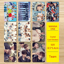 Youpop KPOP Wanna One WannaOne Album To Be One Photo Version For Student Card Bus PVC Crystal Card Stickers(China)