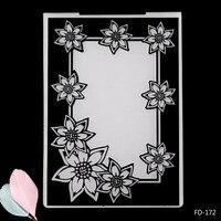 Красивые цветы Рамка Пластик Тиснение папка для Скрапбукинг Бумага Craft DIY карты решений украшения поставки
