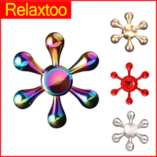 Buy Newest Rainbow Metal Rudder Hand Fidget Spinner Colorful Alloy Hero Finger Spinner Stress Relieve Old Adult Child Kid Toy Gyro for $1.71 in AliExpress store