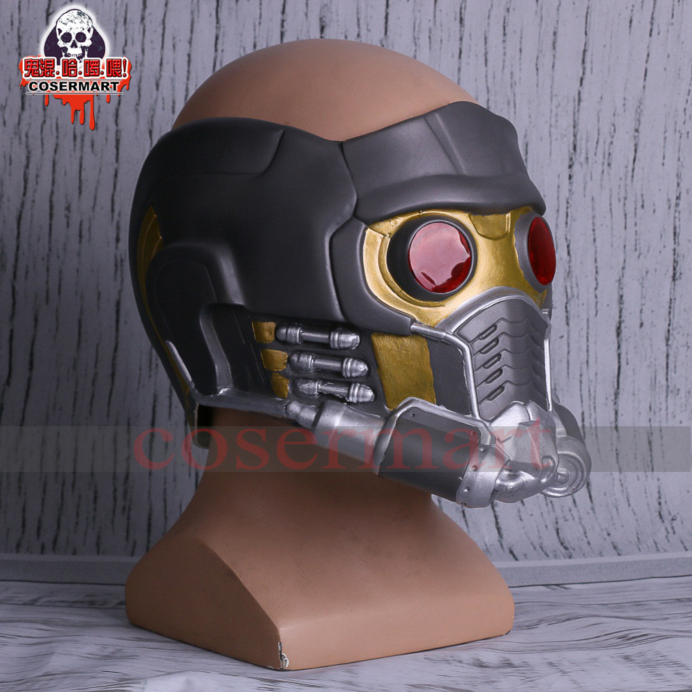 Guardians of the Galaxy Helmet Mask Cosplay Peter Quill Helmet Latex Star Lord Helmet Halloween Party Mask Adults (3)