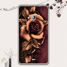 for Nokia Lumia 535 Phone Cases fundas coque Softlyfit Embossed TPU Mobile Case for Microsoft Lumia 535/Dual SIM - Gothic Rose