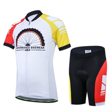 Children Performance Bikewear Cycling Bike Bicycle Short Sleeve Jersey set For Kids M-XXL