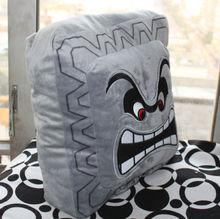 Super Mario Bros Plush Soft Toys Cushion Pillow Thwomp Dossun Doll