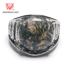 Buy Pure Natural Round Stone Ring Side Hollow Men's Ring Natural Mountains Old Pit Stone Natural Lines Artificial Mining Vintage Old for $1.39 in AliExpress store