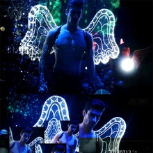 New Design Flashing LED Wings  Dance Costume Can Change 7colors For Stage Performance,Halloween,Masquerade, Bar Free Shipping