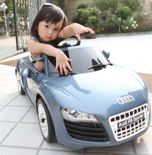 kids electric ride on car with dual motors,remote control ride on car,blue cool car(China)