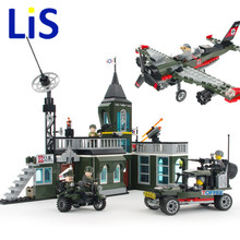 Lis 2017 Low Price Enlighten Military Series Bombing command Headquarters 1714 Building Block DIY Assemble Model Brick Kids Toy