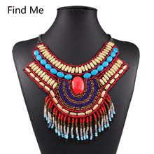 Buy Find 2018 Boho Gypsy ethnic Fashion Coin necklaces Pendants Choker Vintage punk statement maxi Necklace women Brand jewelry for $3.77 in AliExpress store