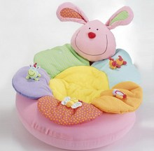Infantil Educational Inflatable Baby Sofa Seat Kids Newborn Baby Cushion Sit Me Up Cosy Infant Toddler Soft Play Mat Pink Rabbit