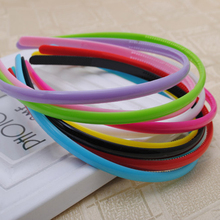10pieces/lot muti-color 8mm width plastic simple candy color hairbands with teeth fashion wemen headbands tiaras 2015 NEW